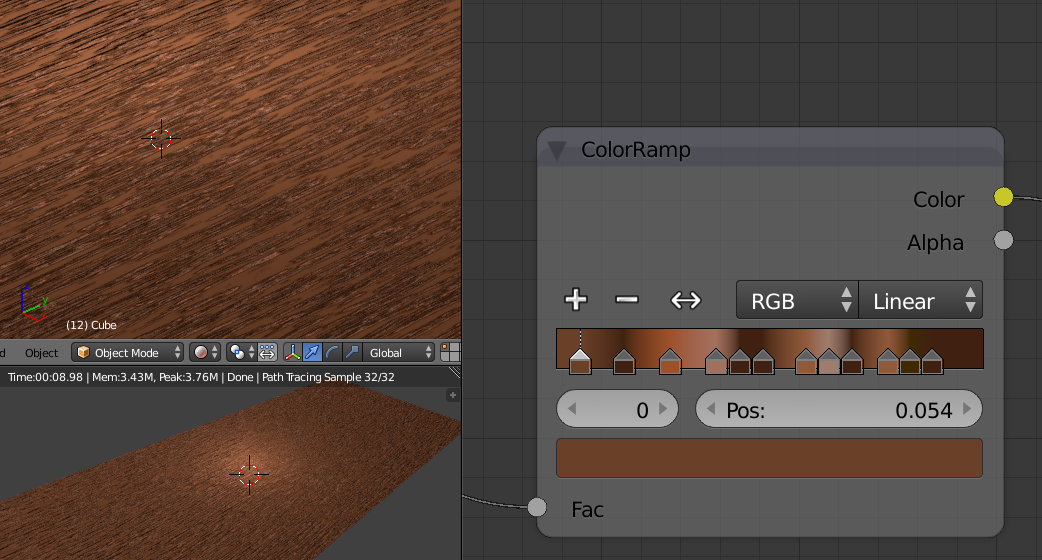 blender procedural wood texture step 5 some alternative colours