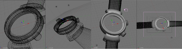 blender editor creating the binary watch model