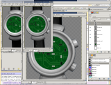 screen shot of inkscape with circuit board layout
